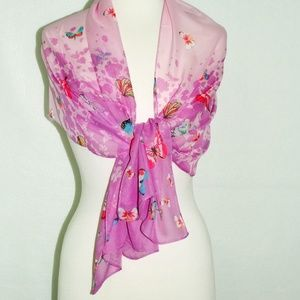 Accessories - Butterflies Purple Women Scarf
